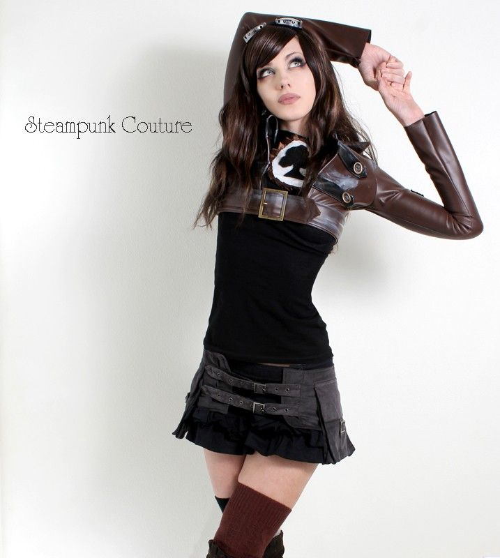 Gray corduroy steambelt by Steampunk Couture... LOVE IT