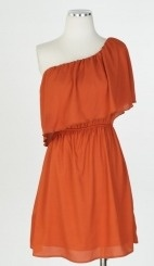 $40 Adorable one shoulder dress with boots