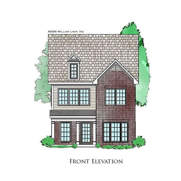 Clarkson Narrow Lot House Two Story House Plans Story House