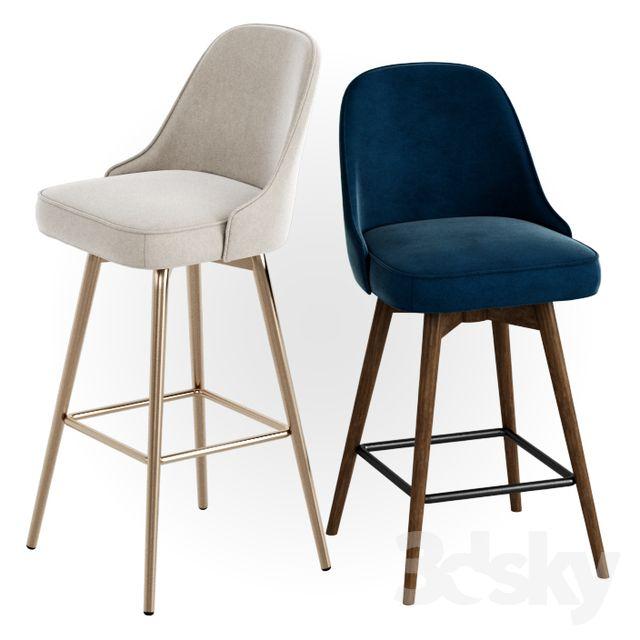 Astonishing West Elm Mid Century Velvet Swivel Bar Counter Stools Cjindustries Chair Design For Home Cjindustriesco