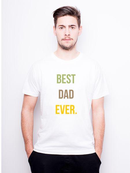 T-Shirt męski z nadrukiem dla taty - Best Dad Ever w Allbag-Allprints na DaWanda.com