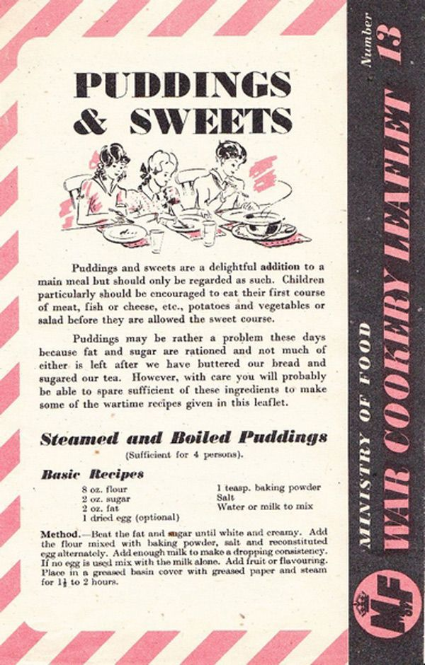 Best 499 food in world war ii rationing recipes ads images on wartime recipes puddings sweets these recipes are taken from the ministry of food leaflets issued in the united kingdom during the second world war forumfinder Choice Image