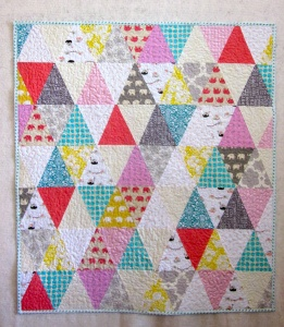 Triangle Baby Girl Quilt