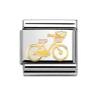 NOMINATION Classic 18ct Gold Bicycle Versailles La Vie En Rose Charms #gracecojewels