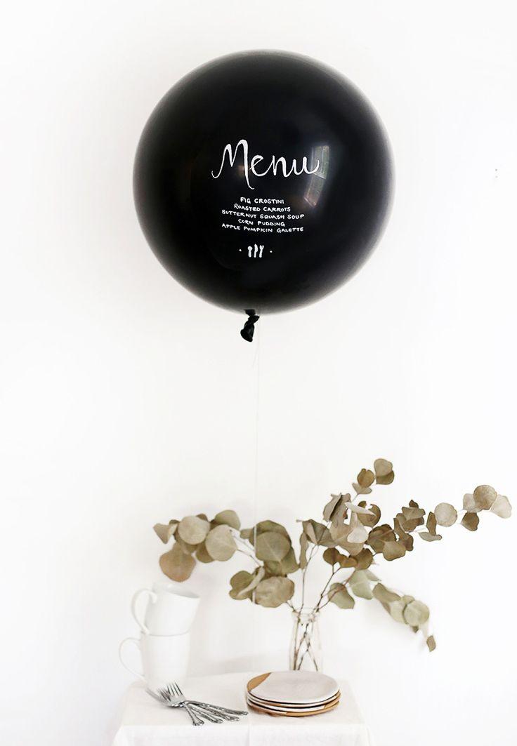 Menús de diseño originales con globos