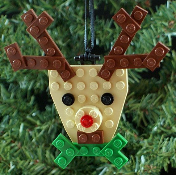 DIY LEGO ornament kits from a cool shop with 100% supporting children in US shelters