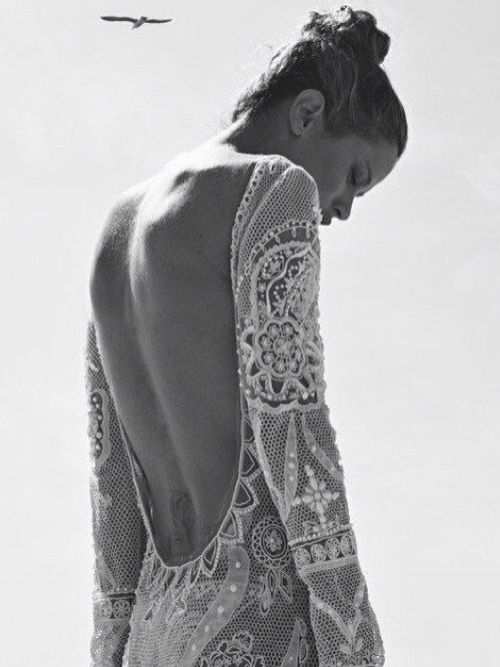 exposed back