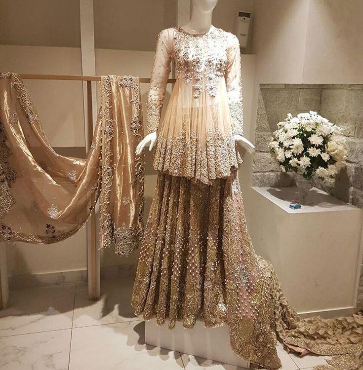 "#SairaShakira s bridal collection ""ZOHRA"" on display at Galleria Mall in Lahore right now  @sairashakira"