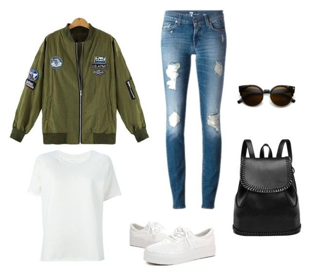 """""""Casual Army Outfit"""" by angelgabrielle23 ❤ liked on Polyvore featuring Majestic Filatures"""