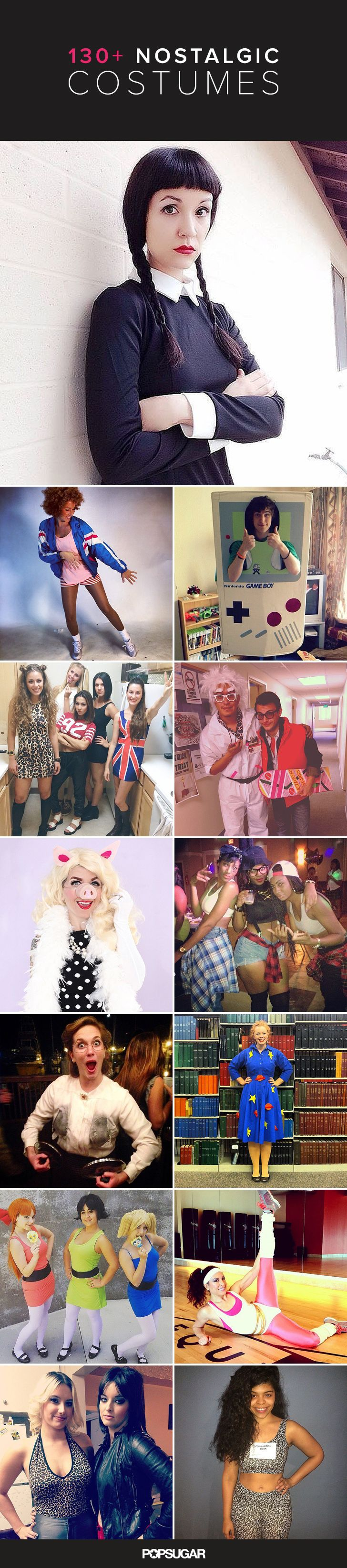 Being an adult is sometimes kind of the worst, so relive your best childhood memories with nostalgic costumes that will take you back in time to the '80s, '90s, and early 2000s.