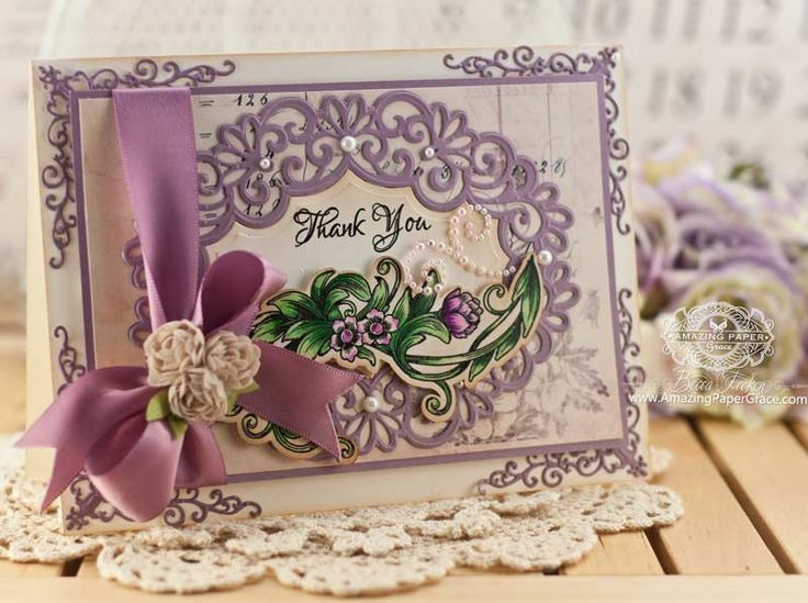 Thank you Card - All essential products for this project can be found on Crafting.co.uk - for all your crafting needs.- WRBF-4478-2014