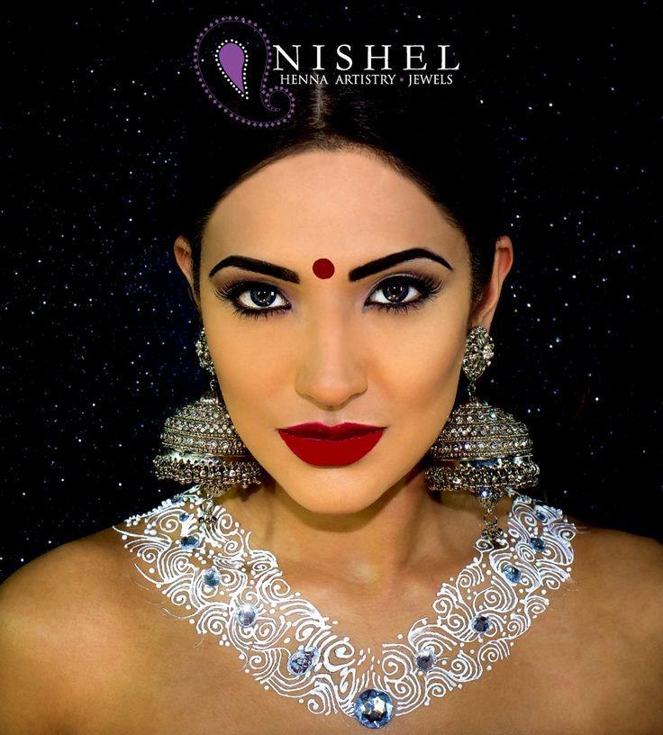 ✨Gorgeous shot we assisted for a Nina Ubhi Institute Artist. Chandni Jhumka with a beautiful Henna necklace created by us!✨ MUA & Hair: @nina.ubhi.institute Jewellery: @nishel_creations Henna: @nishel_creations Model: @zahra.khan.x Photographer: @dilesh_solanki_photography  #nishelcreations #model #mua #henna #mehndi #mehendi #hennaart #bling #jhumki #jhumka #jewellery #nisheljewels #jewels #asianjewellery #indianjewellery #gems #jewellery #instabling #instalike #bodyart #hennanecklace…