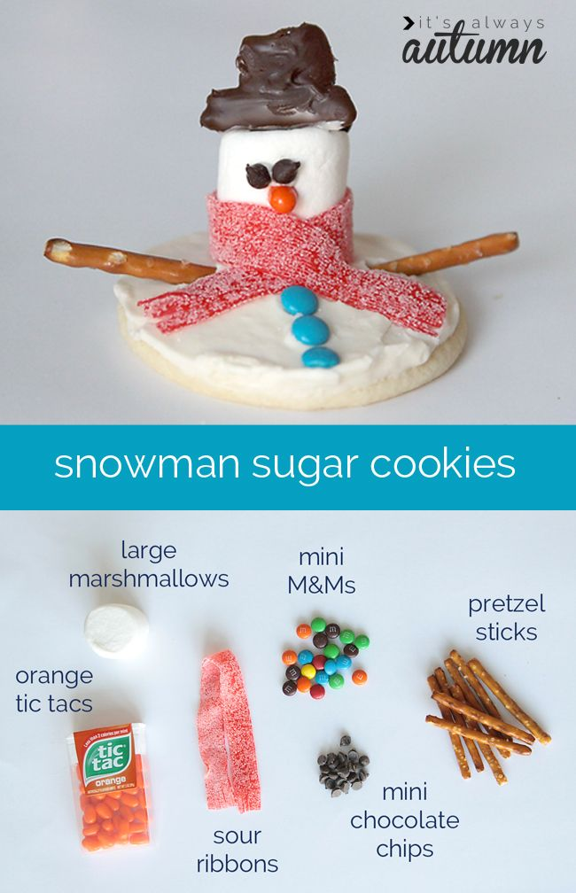 snowman sugar cookies from itsalwaysautumn.com. In this site you can find diy recipes sewing photography and fun ideas for kids