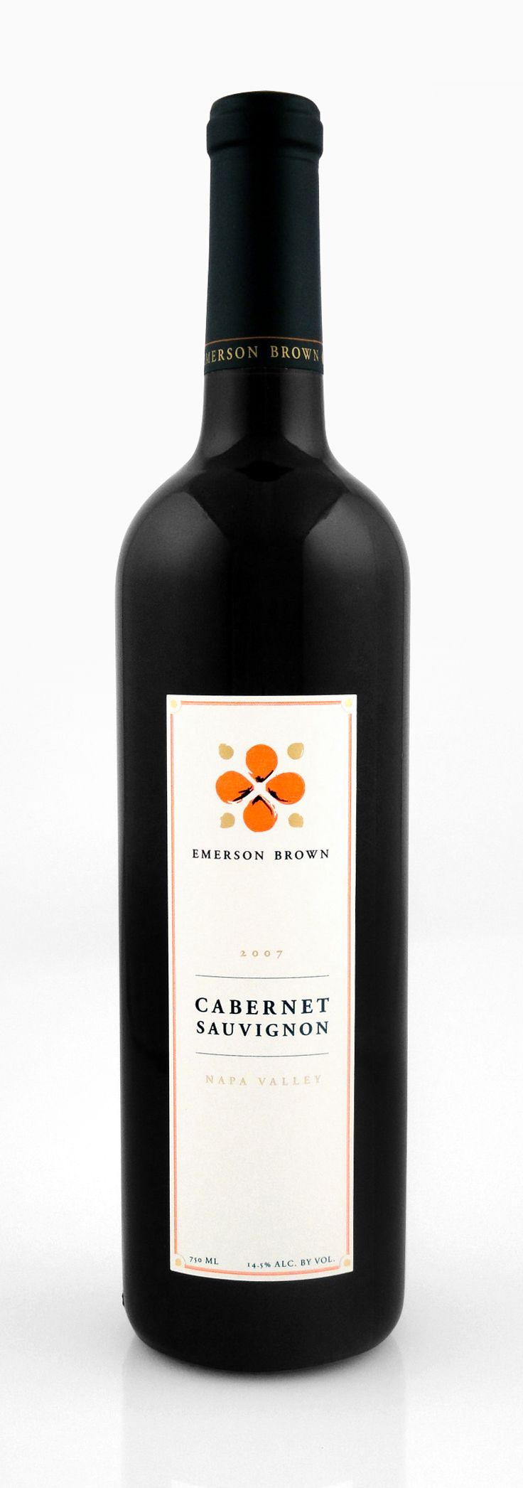 Emerson Brown Wines | Cabernet Sauvignon Wine Label and Capsule | by designthis!