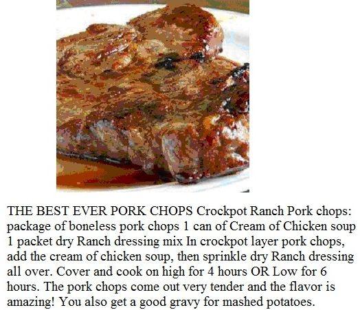 THE BEST EVER PORK CHOPS!   Recipes   Pinterest