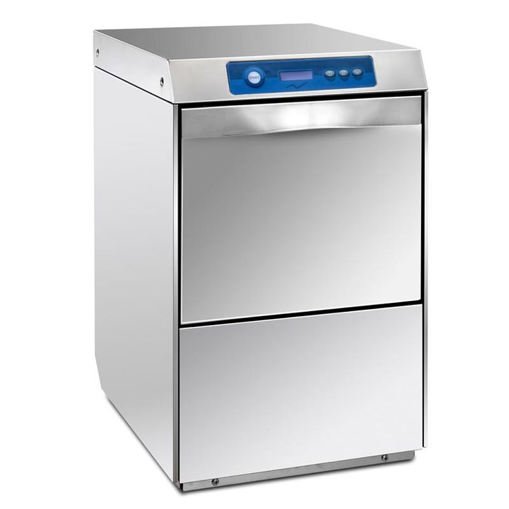 Small and powerful under bench commercial dishwasher. Energy saving, read out display and includes six programs including two clean cycles.