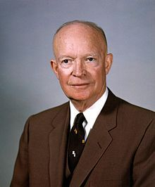 Dwight D. Eisenhower, White House photo portrait, February 1959, The 34th President of the United States.