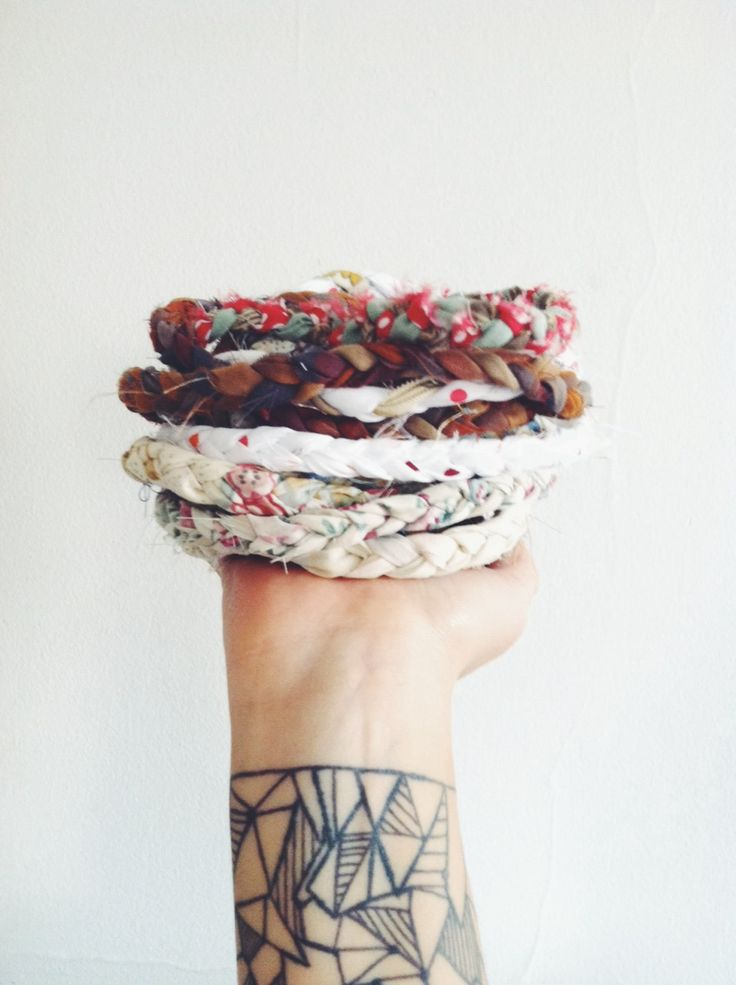 Homemade Is Better - Recycled Fabric Wrap Around Bracelets - Stocking Stuffer - Gifts For Her