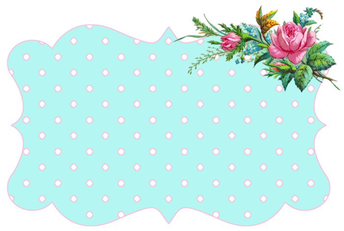Aqua and pink  vintage Flower freebie frame (700x470, 160Kb)