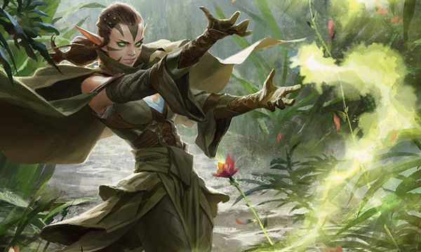 Nissa Revane magic the gathering, Nissa, Planeswalker, green, длиннопост