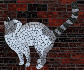 Christine Brallier Mosaics - pet cat