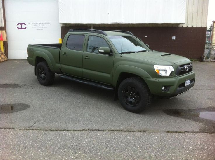 Lifted 4runner For Sale >> OD Green vinyl wrap, | Tacoma Mods | Pinterest | Vinyls, Dark and Military