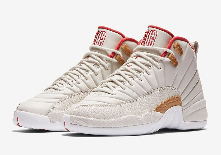 """The Air Jordan 12 """"Chinese New Year"""" is also releasing in a Girls-exclusive colorway in January 2017. Much like the Mens pair that resembles the OG Taxi colorway, this Air Jordan 12 CNY features traditional textiles on the mudguard as … Continue reading →"""