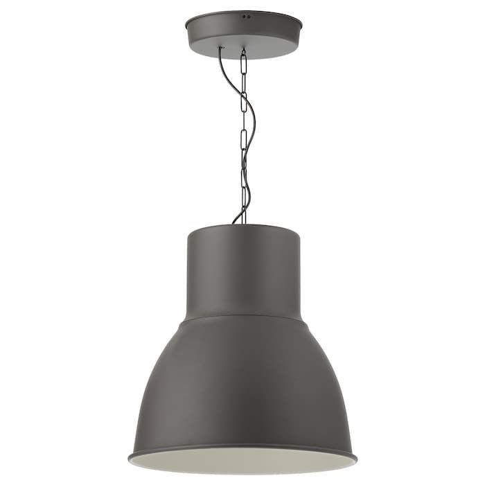 HEKTAR Taklampa mörkgrå 47 cm | Taklampa, Ikea, Lampor