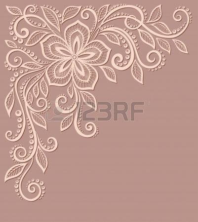 beautiful floral pattern a design element in the old style Many similarities to the author s profile Stock Vector