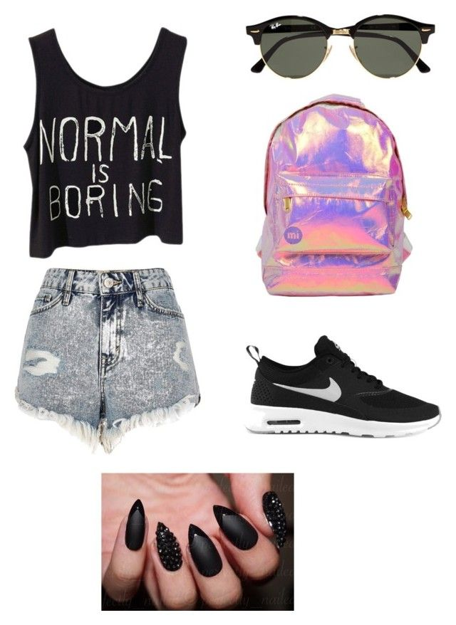 """""""ouiouoi"""" by explorer-14660856367 on Polyvore featuring мода, River Island, NIKE, Miss Selfridge и Ray-Ban"""