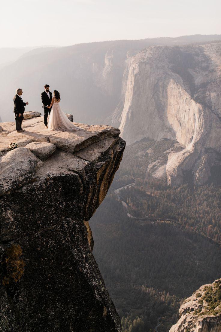 adventurous yosemite elopement | sunrise at glacier point | sunset wedding ceremony at taft point | destination elopement photographer | the hearnes adventure photography | www.thehearnes.com