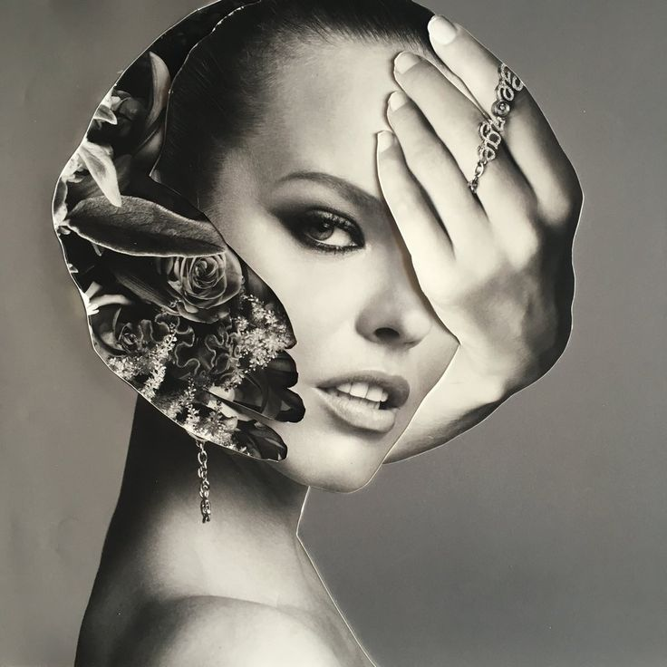 """ORIGINAL COLLAGES CREATED BY DARIA BIRANG WITH PHOTOGRAPHS BY INEZ & VINOODH - Untitled #7 10.25x9.75"""""""
