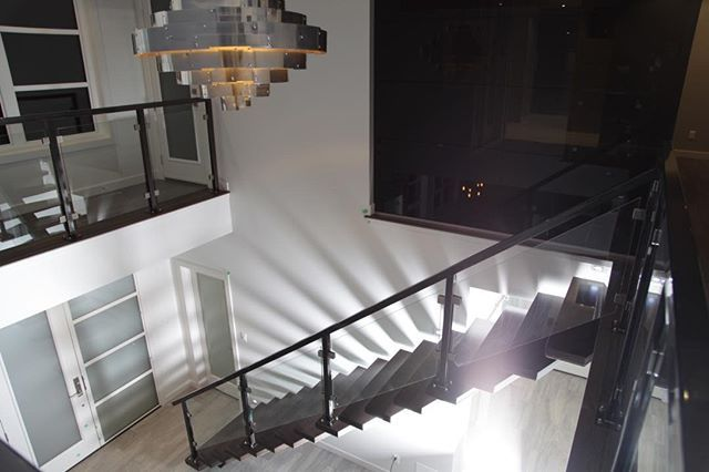 A spineless staircase is not one of the stock finishes you can chose from with other custom builders. This spineless staircase was essential to making this a true Ironstone Home.  #BuildDifferent #YQR #DreamHome #ModernHome #CustomBuild #CustomHomes #quality #modern #original #home #design #imagine #creative #style #realestate #trueoriginal #architecture #dreamhomes #interior #YQRbuilds #construction #house #builder #homebuilder #showhome #beautiful #preparation #engagement #dream…