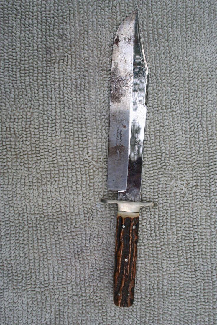 "Vintage George Wostenholm I*XL Sheffield England Bowie Knife w Stag Handle 15"" | eBay"