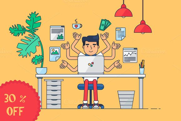 Workspace of Professional Working by barsrsind on @creativemarket