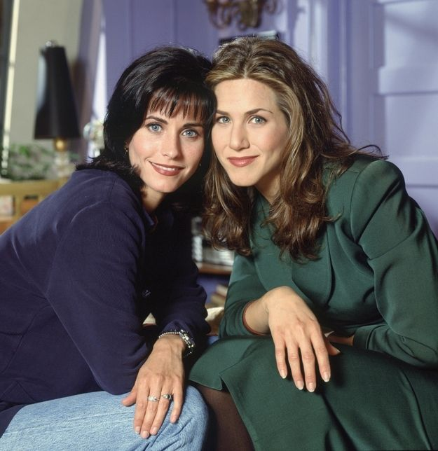 "Awww.... besties. | 12 Rare ""Friends"" Publicity Photos From 1994"