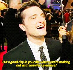 Josh Talking About Kissing Jen - Catching Fire Premiere, London