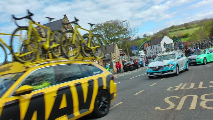 Tour de Yorkshire 2017 - Ruswarp High Street (Unedited Raw footage)