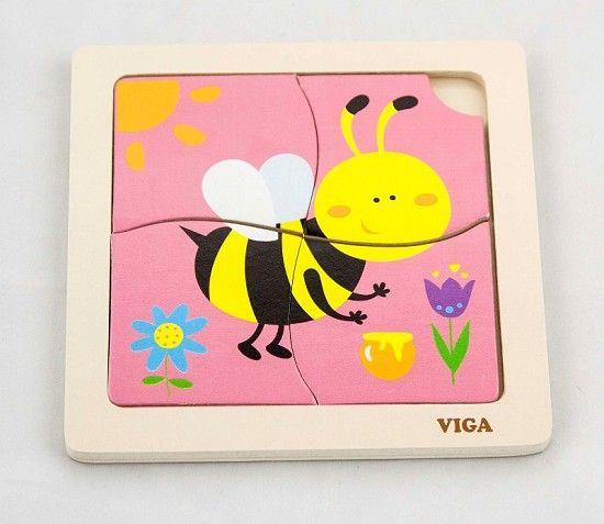 Viga toys puzzel, een kleine puzzel voor een klein prijsje, Word per brievenbus-post verstuurd.