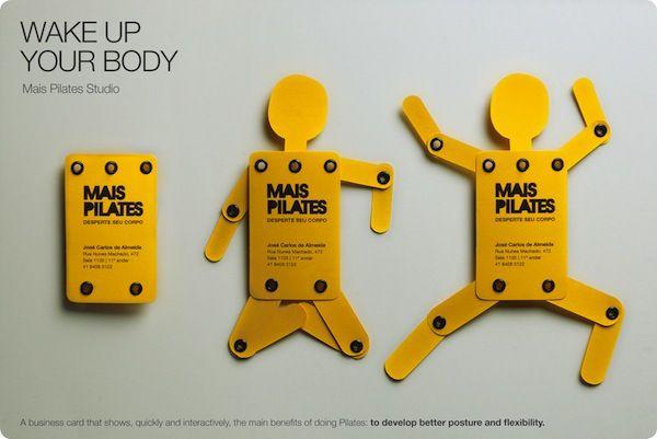 BC7Pilates: Creative Business Cards, Idea, Card Designs, Business Card Design, Wakeup, Graphics Design, Wake Up, Pilates Studios, Business Cards Design