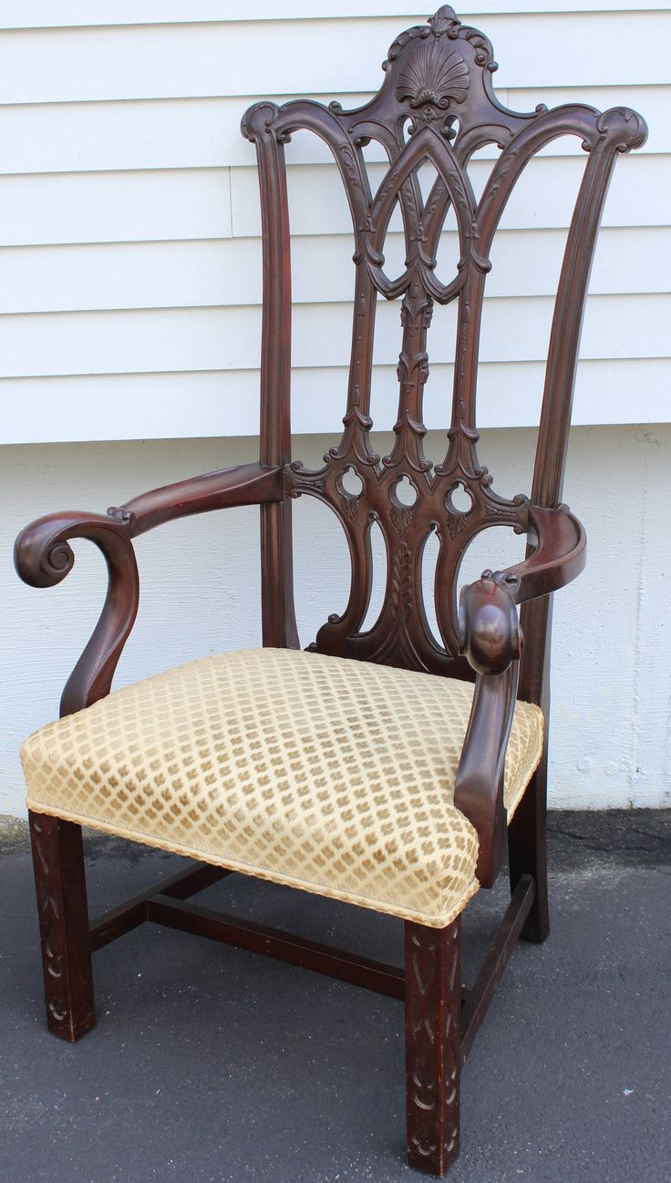 1800s Chippendale Style Armchair Inspired by Independence Hall, Philadelphia - 190 Best Luv Antique Furniture Images On Pinterest Antique