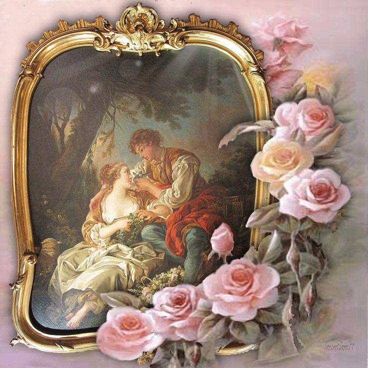 Pár mezi růžemi