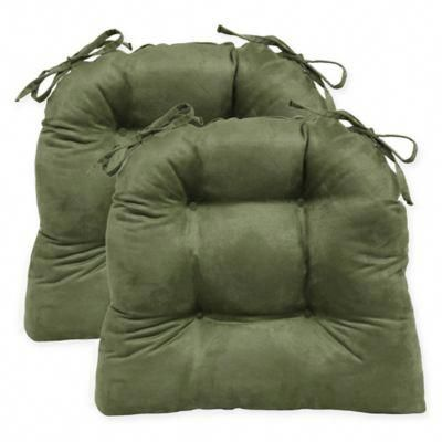 Faux Suede Oversized Chair Pad Chairpads