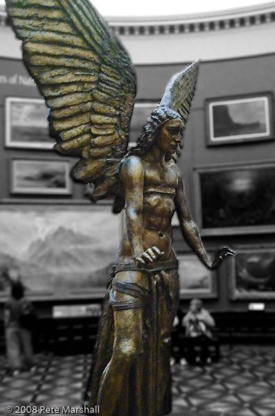 Jacob Epstein's Lucifer statue - in the entrance lobby of Birmingham art gallery. It's immense - have always loved it.