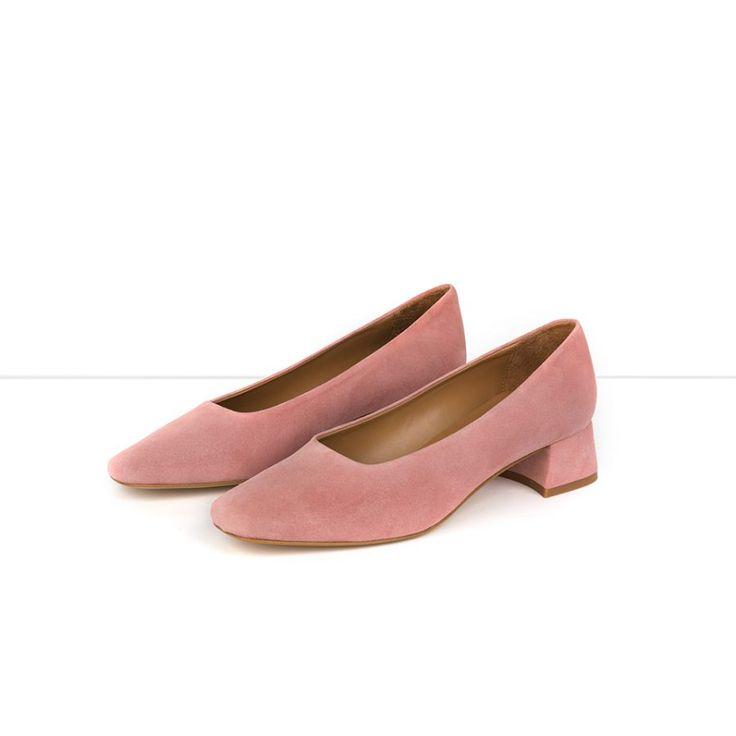 Flattered | Elina - Pink Suede Pump