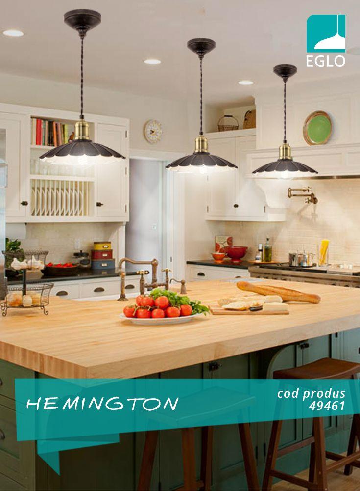 Când bucătăria reprezintă locul preferat din casă al femeilor, EGLO iluminează și relaxarea și îndemânarea.
