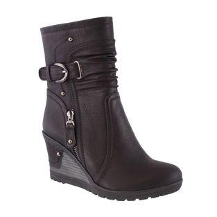 Susst Black Biker Shoe