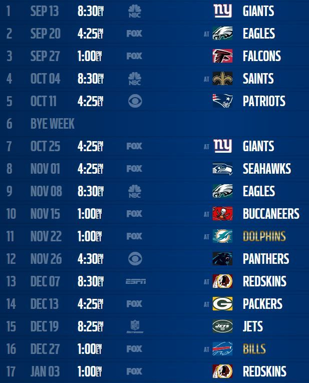 Your new (and printable) 2015-2016 Dallas Cowboys 2015-2016 schedule is here … The Dallas Cowboys will play the following teams during the 2015 NFL regular season (the evil division rivals, N…