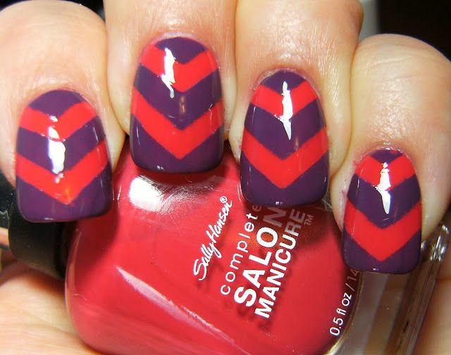 missoni chevron nails