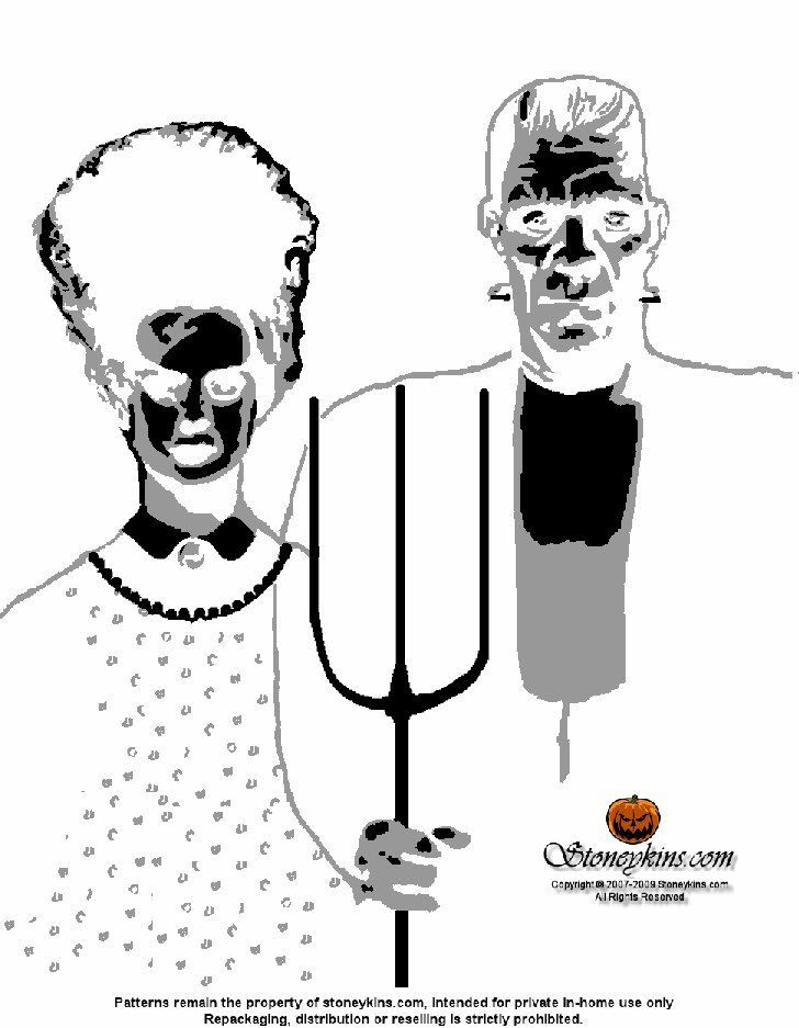 Pin for Later: 20 Free Halloween Printables to Get You in the Spooky Spirit Frankenstein Pumpkin Stencil Will anybody else have a Frankenstein stencil out on their porch? Highly doubt it.